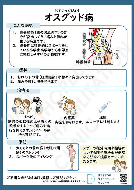 【画像】オスグッド病について
