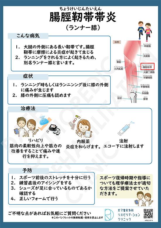 【画像】腸脛靭帯帯炎(ランナー膝)について